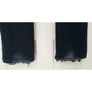 Big Star Jeans - Big Star Blue LIV BOOT Dark Wash Frayed Hem Jeans